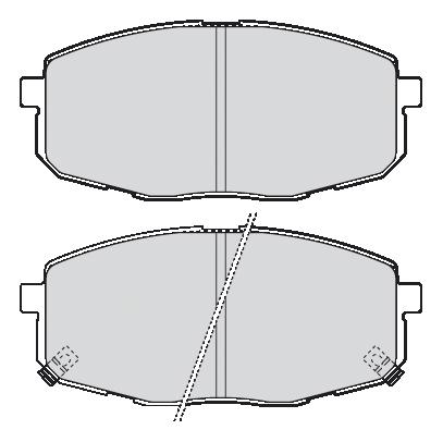 Kit de plaquettes de frein, frein à disque FIRST   VALEO