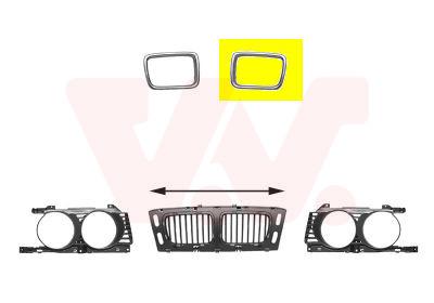 Cadre, grille de radiateur | VAN WEZEL